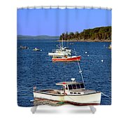 Maine Lobster Boat Shower Curtain