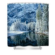 Merced River Reflection 2 Shower Curtain
