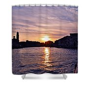 Mia Pervinca Murano Sunset  Shower Curtain