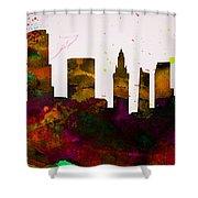 Miami City Skyline Shower Curtain