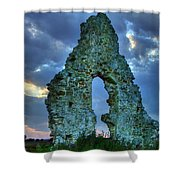 Midley Church Ruins At Dusk Shower Curtain