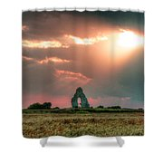 Midley Church Ruins At Sunset Shower Curtain