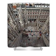 Milan From The Roof Shower Curtain