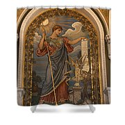 Minerva Of Peace Mosaic Shower Curtain