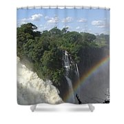 Mist And Rainbow At Victoria Falls Shower Curtain