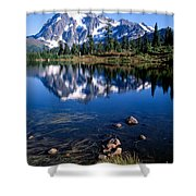 Mt. Shuksan Reflected In Picture Lake Shower Curtain
