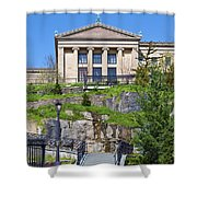 Museum Of Art Philadelphia Pa Shower Curtain by David Zanzinger