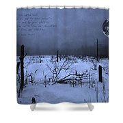 Native American Full Moon Treat The Earth Well Shower Curtain