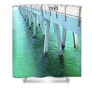 Navarre Beach Fishing Pier Shower Curtain
