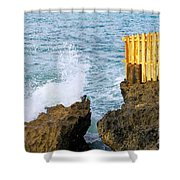 Negril Sea Splash Shower Curtain
