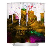 New Orleans City Skyline Shower Curtain