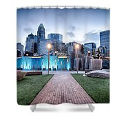 New Romare-bearden Park In Uptown Charlotte North Carolina Earl Shower Curtain