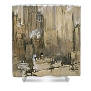 New York From Our Brooklyn Flat Circa 1921 Shower Curtain