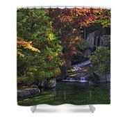 Nishinomiya Japanese Garden - Waterfall Shower Curtain