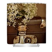Old Suitcase Shower Curtain