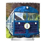 Old Train Shower Curtain
