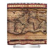 Ortelius World Map -typvs Orbis Terrarvm - 1570 Shower Curtain
