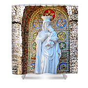 Our Lady Of Perpetual Help Mary And Jesus Shower Curtain