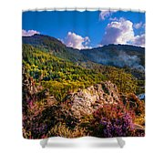Overview Of The Loch Achray   Shower Curtain