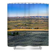 Panoramic Emmett Valley Shower Curtain