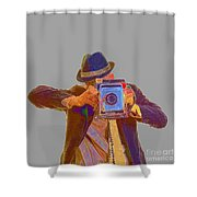 Paparazzi Shower Curtain by Edward Fielding