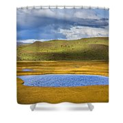 Patagonian Lakes Shower Curtain