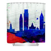 Philadelphia City Skyline Shower Curtain