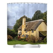 Picturesque Thatched Roof Cottage In Selworthy Shower Curtain