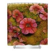 Pink Calibrachoa Photoart II   Shower Curtain