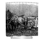 Plowing The Land C. 1890 Shower Curtain