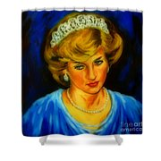 Portrait Of Lady Diana Shower Curtain
