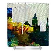 Providence City Skyline Shower Curtain