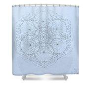 Quantum Snowflake Shower Curtain