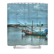Ready For A Night Fishing Shower Curtain