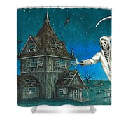 Reaper At Midnight Shower Curtain