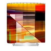 Red Desert Cosmopolis Shower Curtain