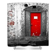 Red Door Perception Shower Curtain