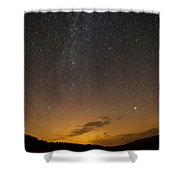Road To The Milky Way Shower Curtain