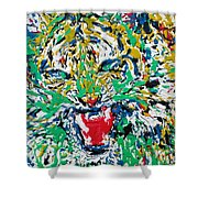 Roaring Enamel Tiger Shower Curtain