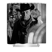Robert Mitchum Lights Young Billy Young Set  Old Tucson Shower Curtain