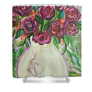 Roses For Friends Shower Curtain