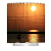 Sailboat A Drift Shower Curtain