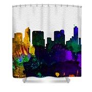 San Diego City Skyline Shower Curtain
