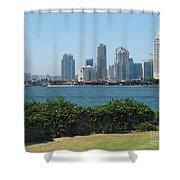 San Diego Viewed From Coronado Island Shower Curtain