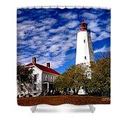 Sandy Hook Light Shower Curtain