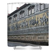 Saxon Sovereigns Depicted In Meissen Porcelain Shower Curtain