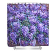 Scented Lilacs Bouquet Shower Curtain