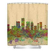 Skyline Of Detroit Usa Shower Curtain