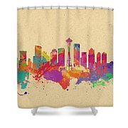 Skyline Of Seattle  Usa Shower Curtain