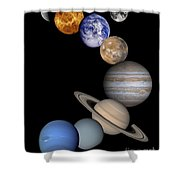 Solar System Montage Shower Curtain by Anonymous